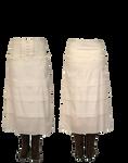 steampunk white skirt stock