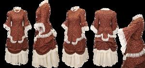 barroque brown dress