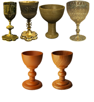 gold and wood chalice