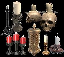 some candles by darkadathea