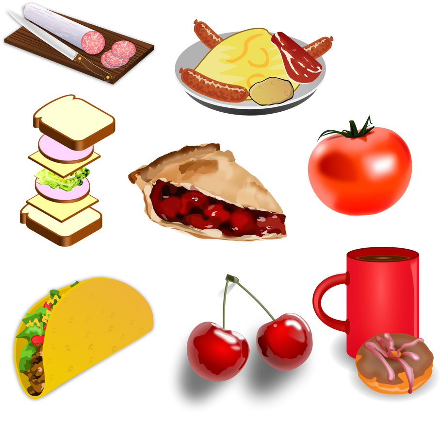 PACK FOOD VECTOR PNG 13 by darkadathea