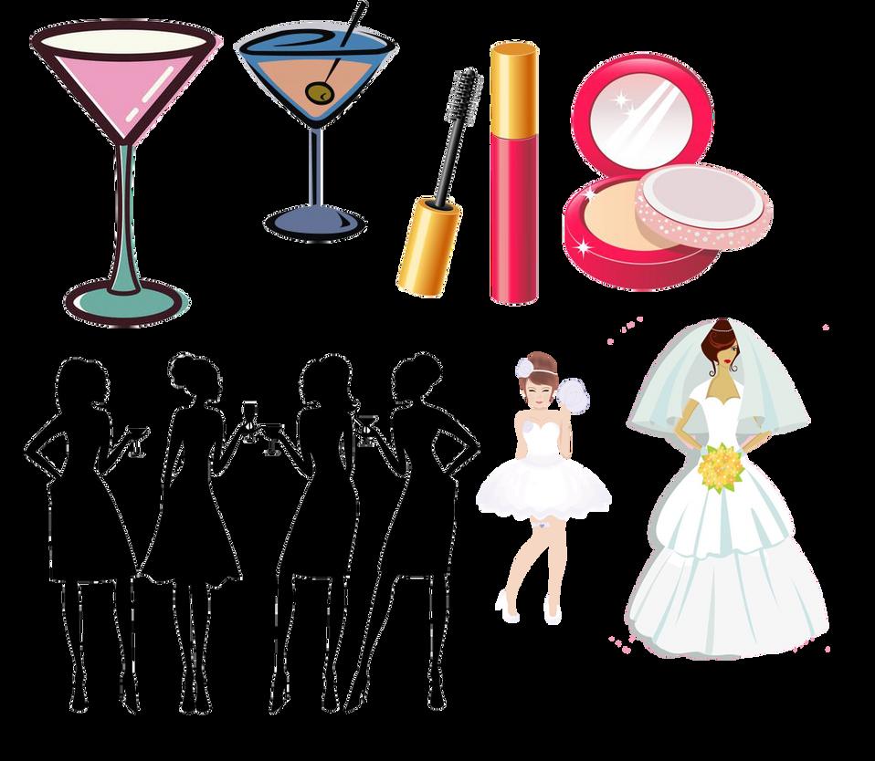 bachelorette and wedding items clipart by darkadathea on deviantart rh deviantart com bachelorette clipart free bachelorette party cliparts