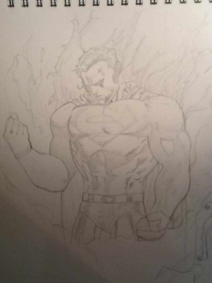 Superman sketch, not finished yet, by Scottheneghan
