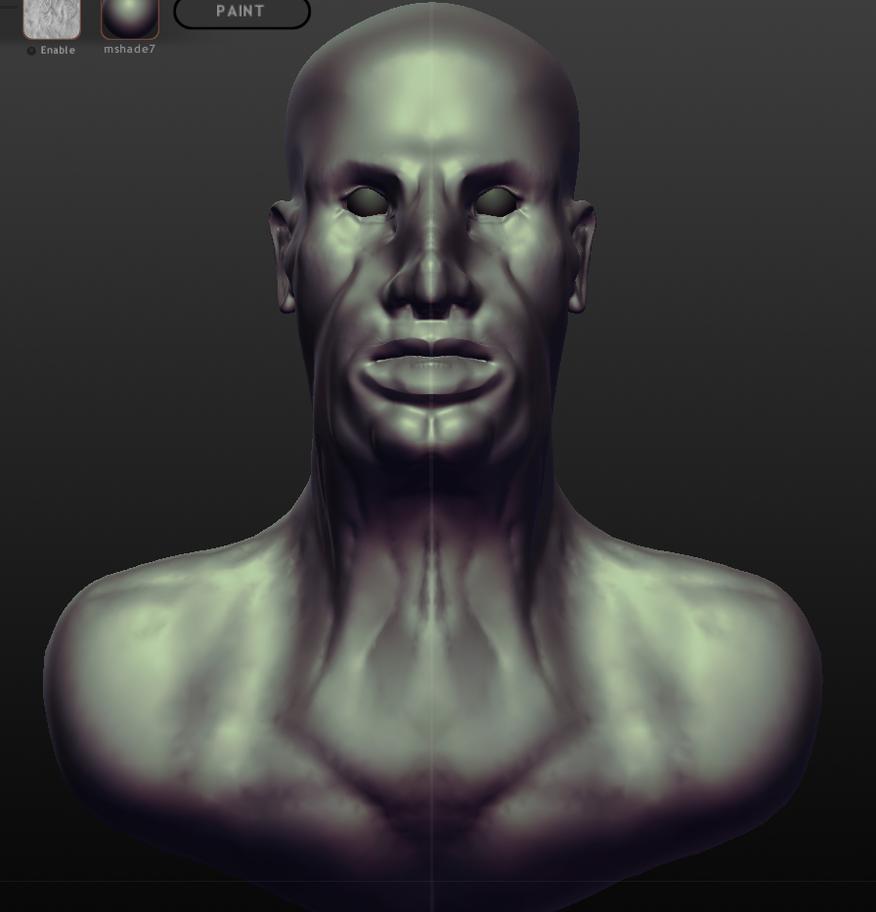 My first human face, Sculptris 27/10/12 by Daniel-Sidi