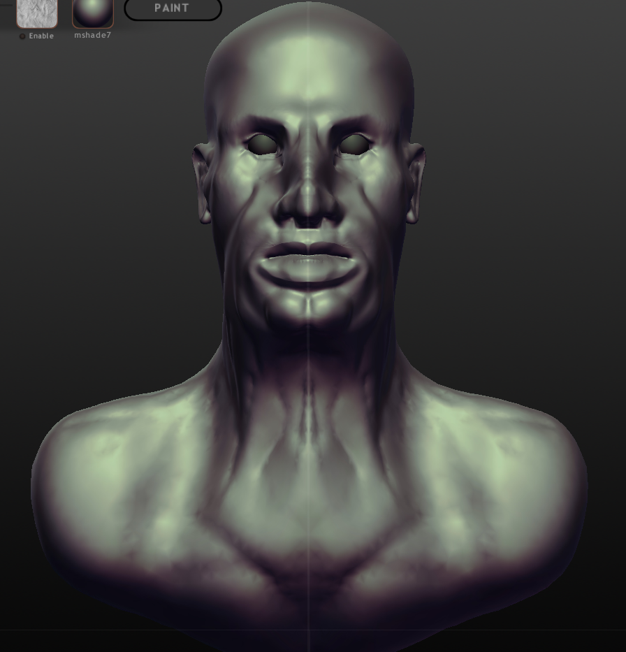 My first human face, Sculptris 27/10/12 by Daniel-Sidi