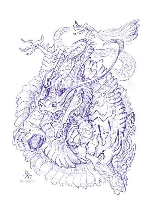 Neverending Dragon by SunMoonDragoness