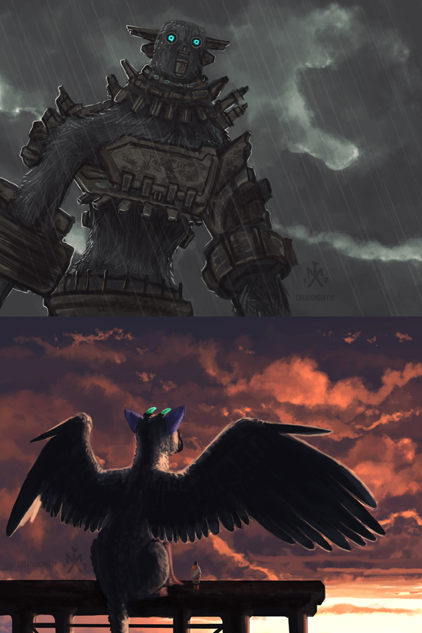 The Giant and the Bird by SunMoonDragoness