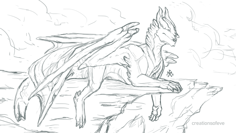 His Land - sketch by SunMoonDragoness