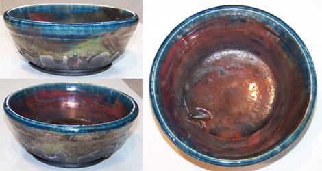 Raku Bowl by Puffling