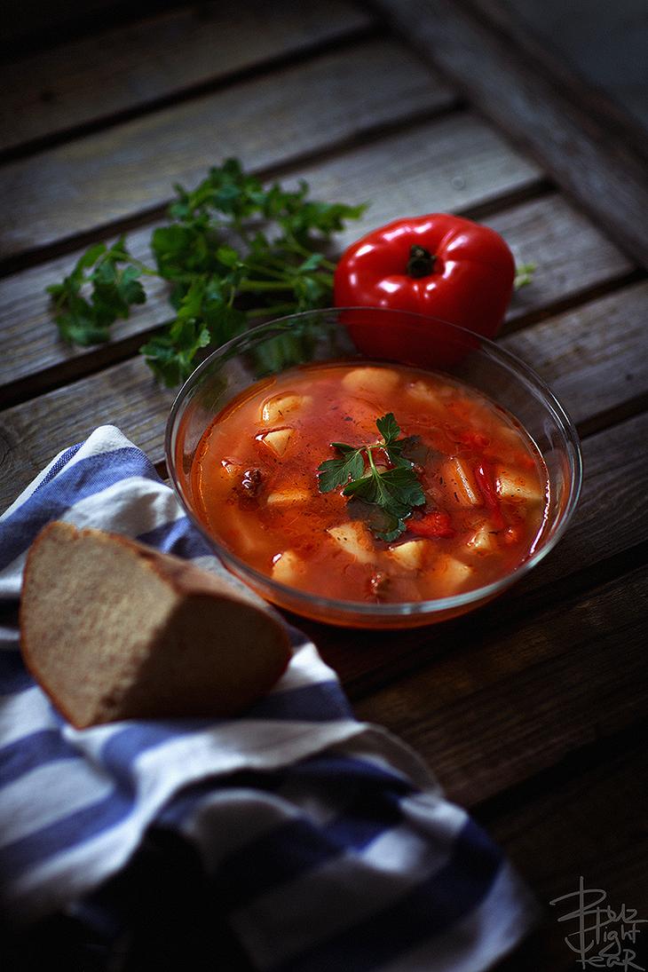 Shurpa (meat soup) by bzzlightyear