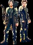 Katniss y Peeta (The Hunger Games) PNG Render