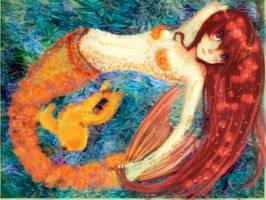 bubble mermaid by panza
