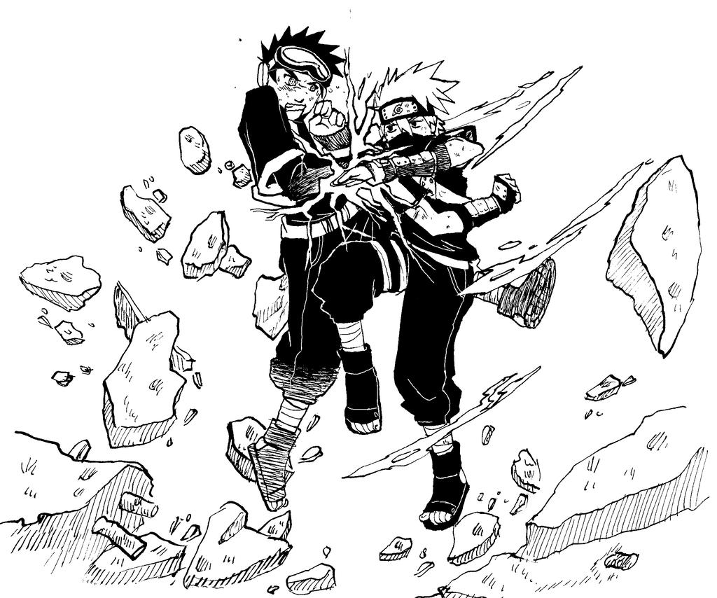 Obito vs Kakashi by Shabaku on DeviantArt