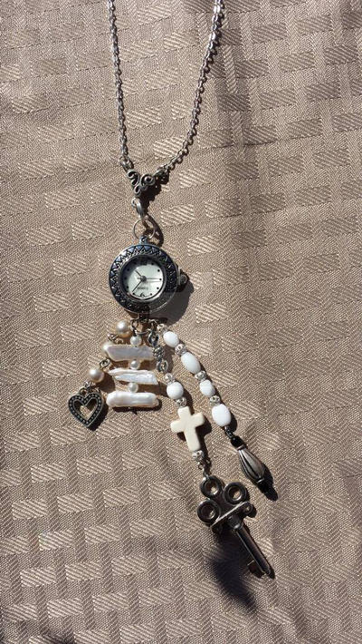 clock necklace  by optimustwist26