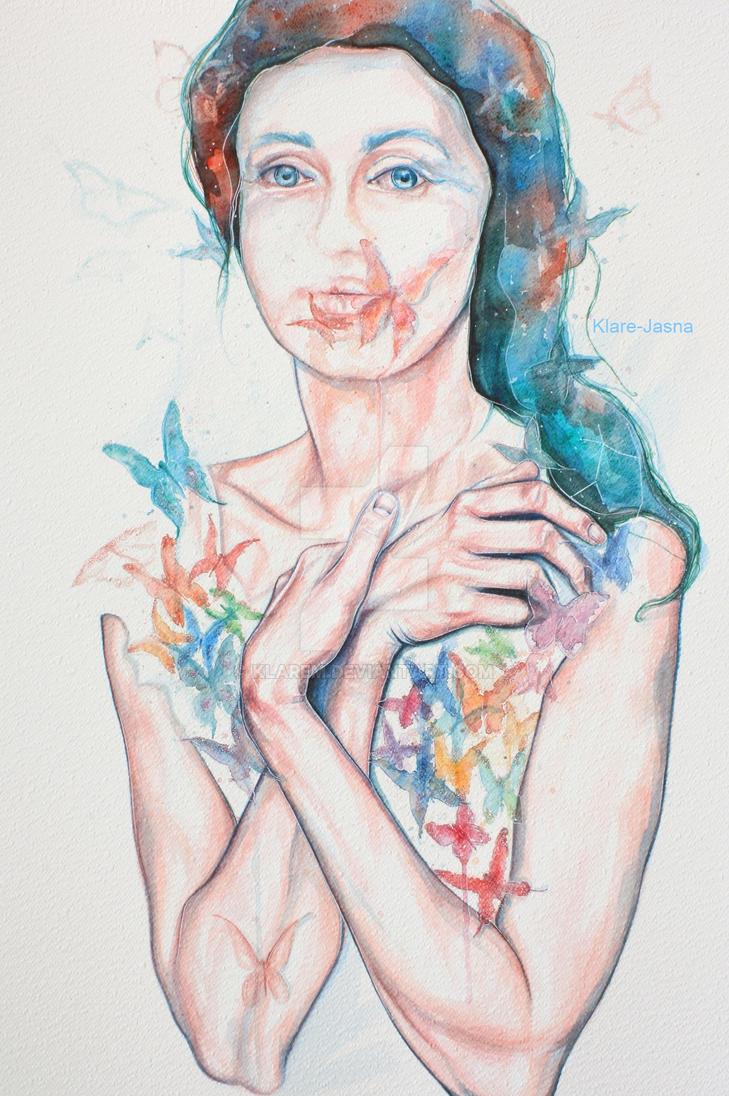Lady of the butterflies by KlarEm