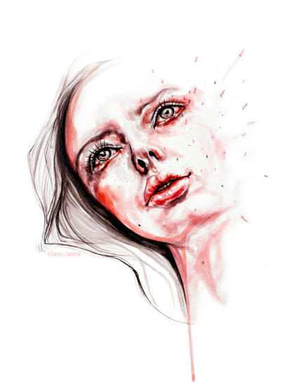 Blood red tears by KlarEm