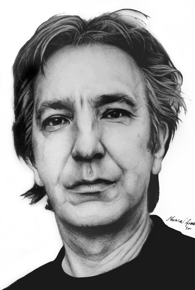 Alan Rickman by KlarEm