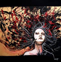 La ragazza coi capelli al vento by KlarEm