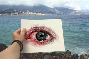 Eye drawing by KlarEm