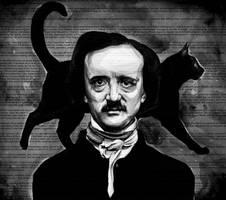 Edgar Allan Poe-the black cat by KlarEm