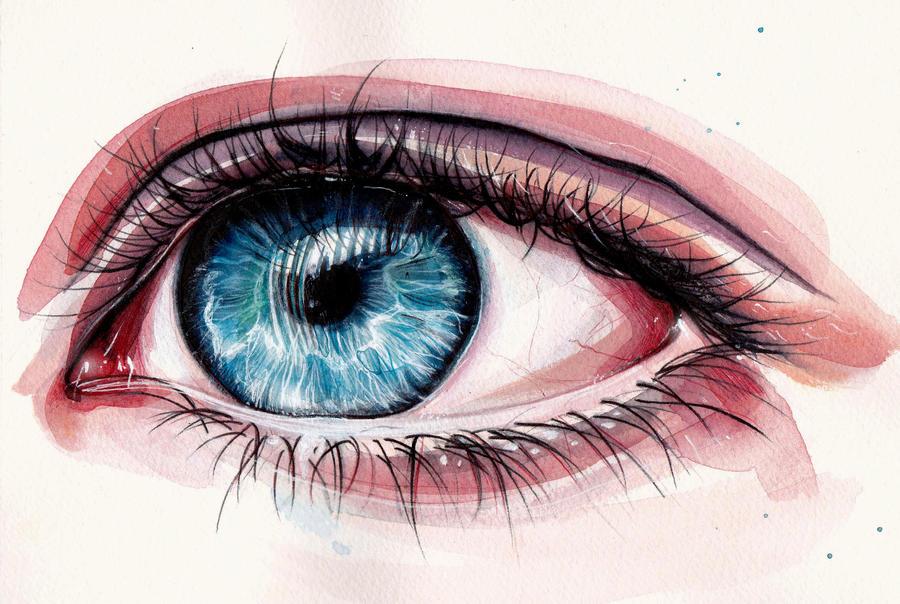 Eye painting by KlarEm on DeviantArt  Eye painting by...