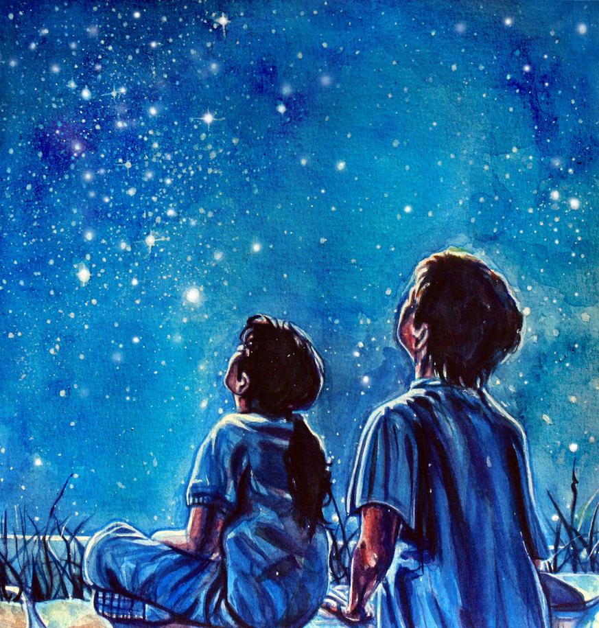 Starry sky by KlarEm