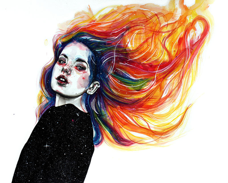 Phoenix girl by KlarEm