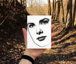 Grace Kelly (minimal drawing)
