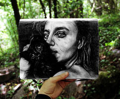 She and her cat by KlarEm