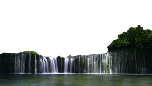 water  fall forest