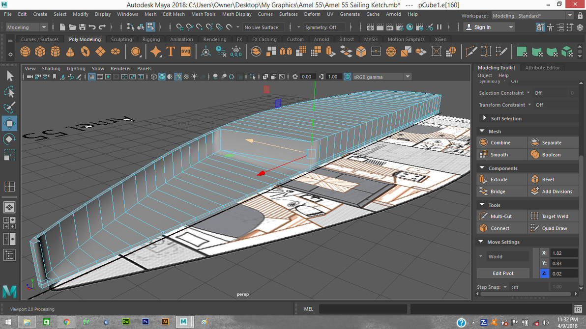 02 Amel 55 Based Starting Hull Cut-Out by drizzt12779 on
