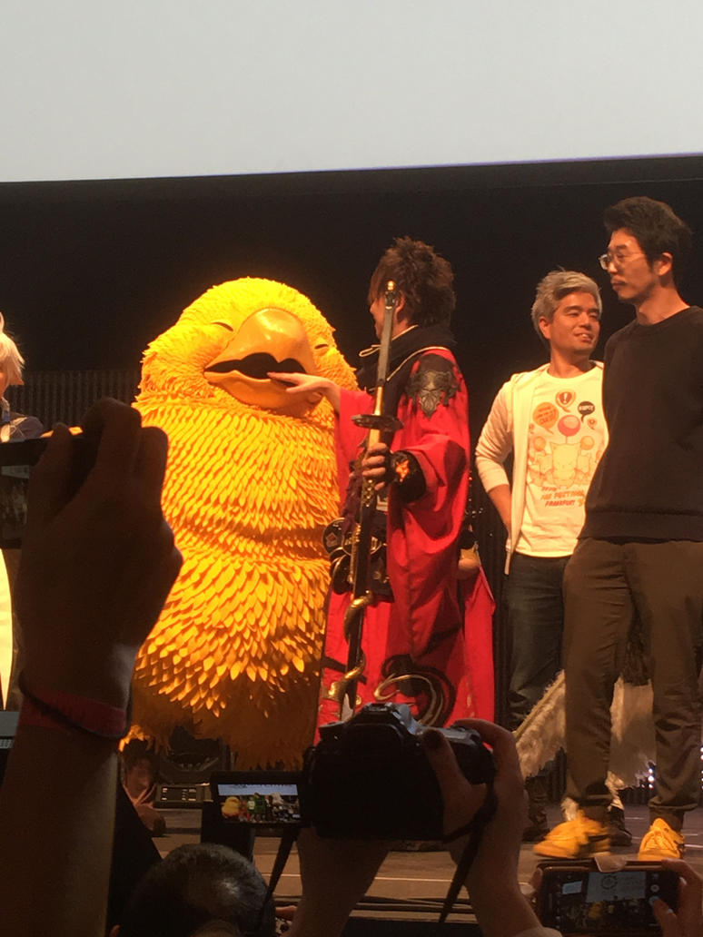 Fat Chocobo Biting Yoshida-San! by calleymacleod