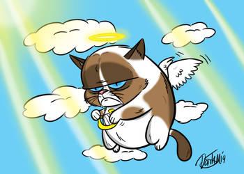 R.I.P Grumpy Cat by cowheaddanny
