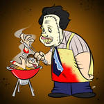 Doodles of the Damned Day 9: Leatherface