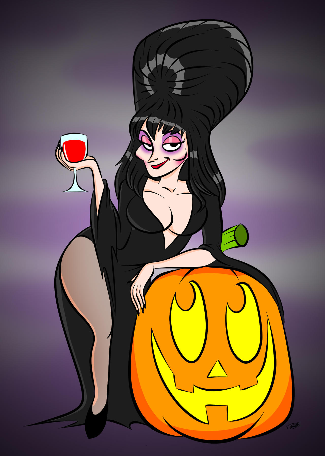 Doodles of the Damned Day 39: Elvira