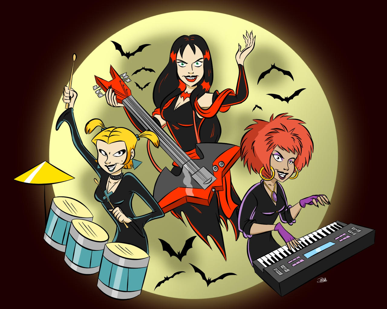 Doodles of the Damned Day 55: The Hex Girls