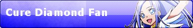 Cure Diamond Fan Button by PierceTheWolfox