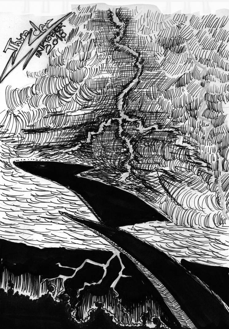 inktober2018 - Thunder by mahadon