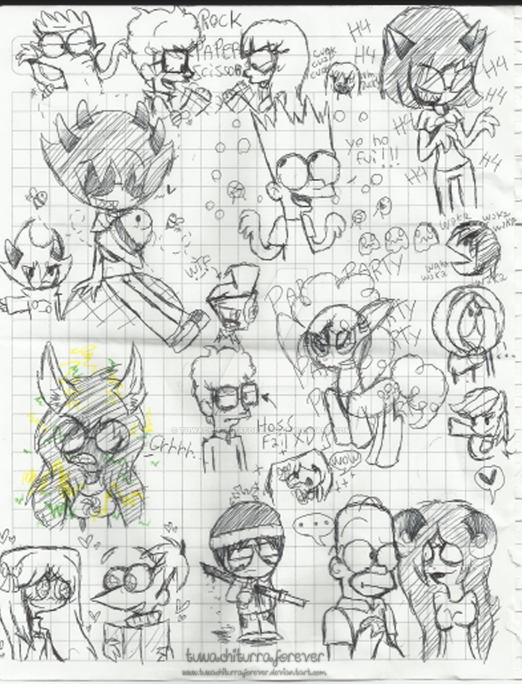 .:Sketchs In The School 1:. by tuwachiturraforever