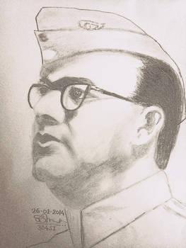 Subhash Chandra Bose by saurabh304si