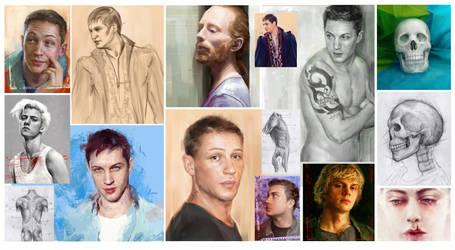 Portraits Dump by nikafargos2iris