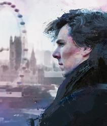 soft sketch Sherlock by nikafargos2iris