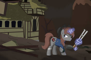 In the Wastelands... by Steampunk-Brony