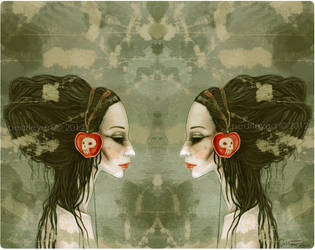 Snow White headphones by pearleyed