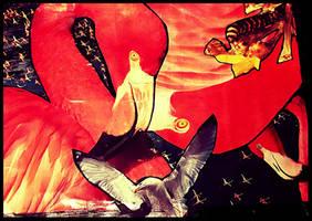 Slash Flamingo by JujuBrew