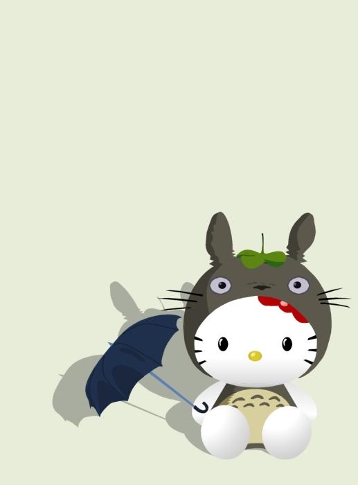hello kitty totoro vector by katsumaru on deviantart