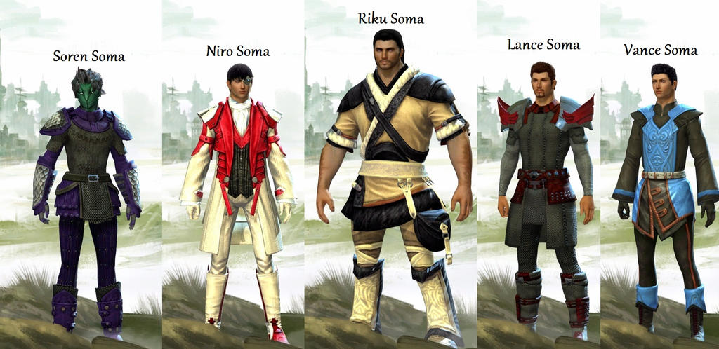 Guild Wars 2 Anime Characters : Guild wars characters by rikusoma on deviantart
