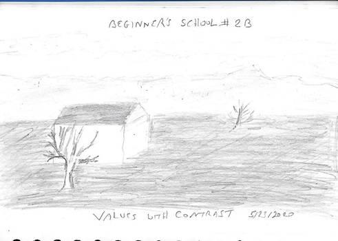 Beginners School 2A BW Values w contrast