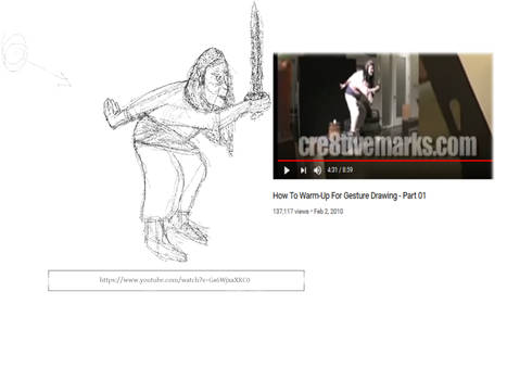 Cre8tive warmup gesture drawing