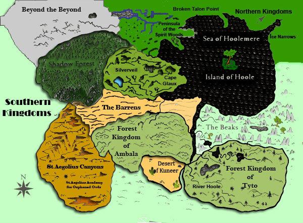 Guardians of Ga'Hoole Map by GoddessofChryzafi